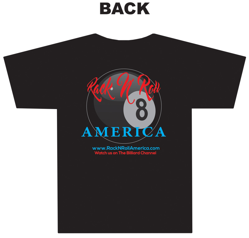 The Ofiicial Rack 'N' Roll America T-shirt main back
